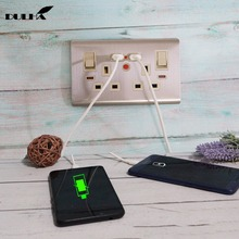 UK 13A Double USB Power Wall Socket 2 Gang Electrical Switched Sockets With Plug Ports Quick Charger Outlet Plugs