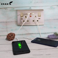 UK 13A Double USB Power Wall Socket 2 Gang Electrical Switched Sockets With USB Plug Ports Quick Charger Outlet UK Plugs
