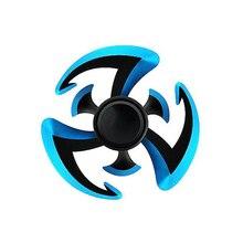 2017 New Naruto Ninja Fidget Spinner EDC Hand Spiner Zinc Alloy Weapon Metal Shuriken Finger Spinner For Kids Gift