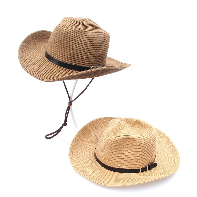 Summer Hat Women Sun Hats Beach Ladies Straw Wide Brim Sunscreen Girls Travel Shade Foldable Light Black Belt Drop Shipping