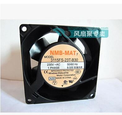 New original NMB 8CM8038 230V 9.5/8W 3115FS-23T-B30 80*80*38mm AC fan new 17038 double ball 220v ac fan 5915pc 23t b30 35w for nmb mat7 170 170 38mm