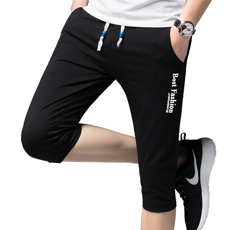 2020 Summer Style Men Casual Pants Slim Jogger Pants Men Casual Slim Calf-length Sweatpants Men Youths Cotton Boys Pantalon ABZ4