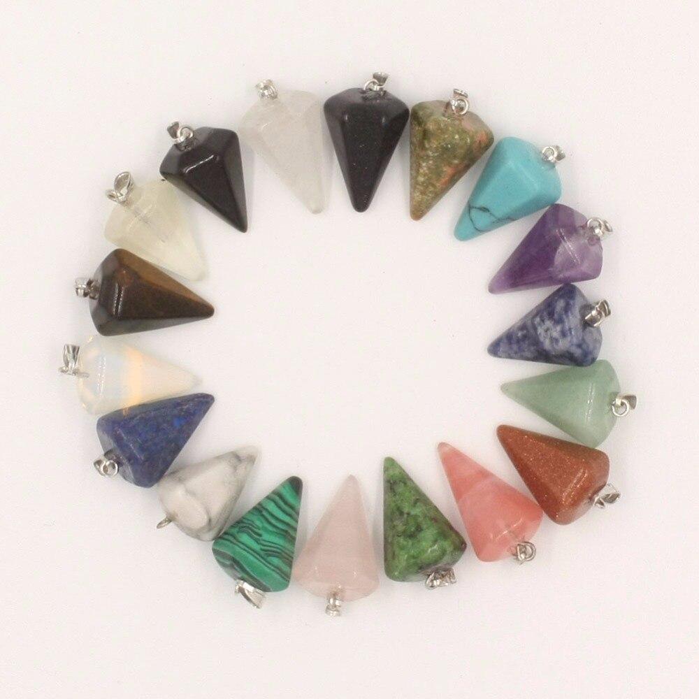 Wholesale 12pcs//lot Natural tiger eye stones Hexagonal pyramid charms pendants