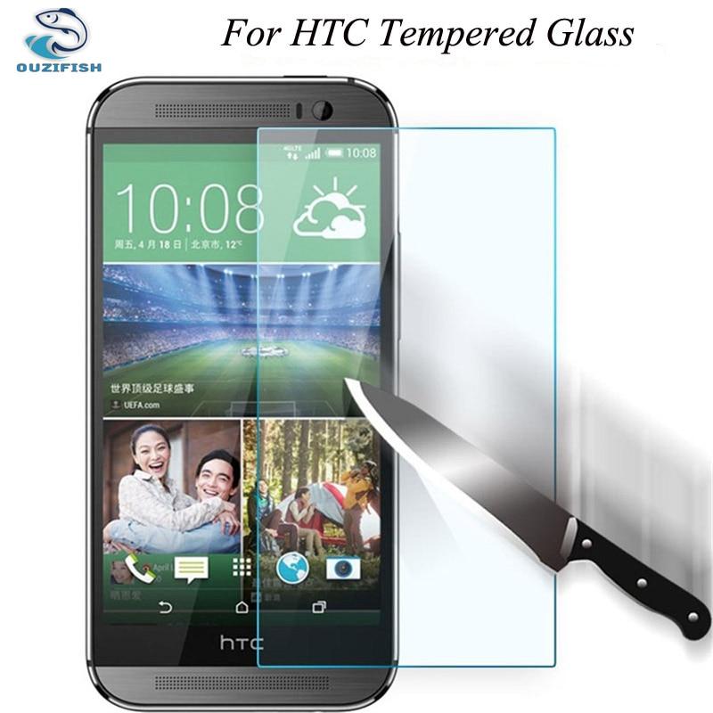 imágenes para Ouzifish 2.5d 9 h vidrio templado protector de pantalla para htc one m7 m8 M9 M10 A8 E8 E9 X9 S9 PLUS MAX Caso de la Cubierta Protectora película