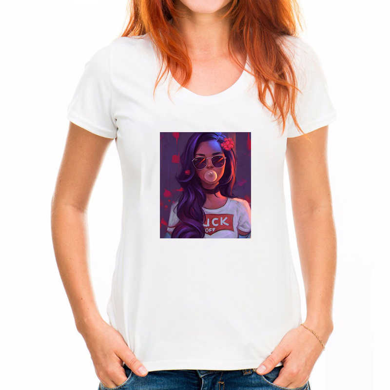 Zomer Mode T-shirt Vrouwen Grappige Van Gogh Art Olieverf Sterrennacht Plus Size Ongedwongen Harajuku Korte Mouwen Tee shirt Femme