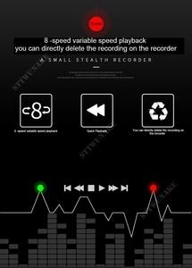 Image 5 - STTWUNAKE Grabadora de Audio profesional Digital HD, Mini grabadora de voz oculta, denoise dictáfono, alta distancia, HiFi, sin pérdidas, MP3