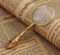 3.5X Vintage Goldene Metall Lupe Griff Lupe zum Lesen