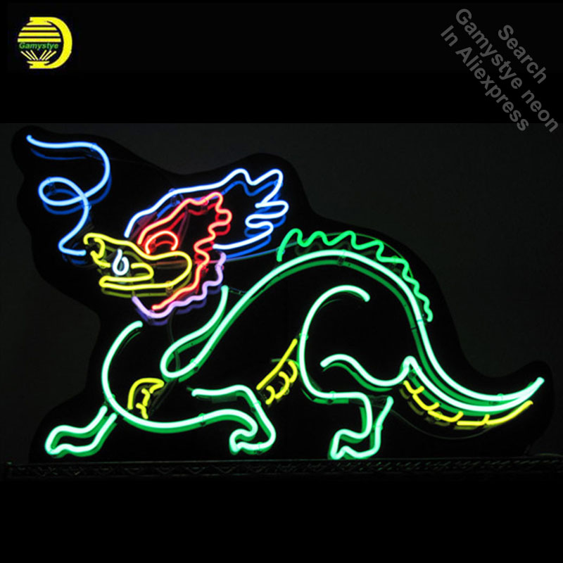 Dragon Neon Sign Beautiful Handmade Neon Signs Real Glass Tube Neon Lights Recreation Wall Windows Iconic Sign Neon Light Lamps Moderate Price Lights & Lighting Neon Bulbs & Tubes