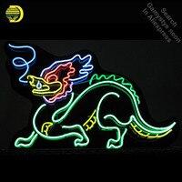 Oferta Letrero de neón dragón hermoso hecho a mano letreros de neón de tubo de cristal Real