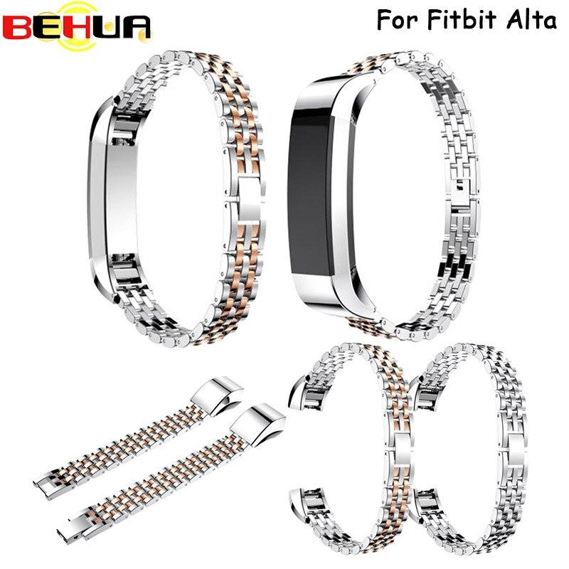 Luxury watch band Genuine Stainless Steel Watchband Wrist Straps For Fitbit Alta Tracker Watch Strap Correa Reloj