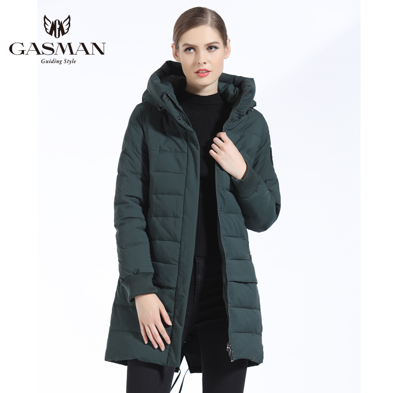 GASMAN 2018 New Women Winter Down Jackets And Coats Brand Hooded Warm Down   Parka   For Women Fashion Clothes Winter Female Thick