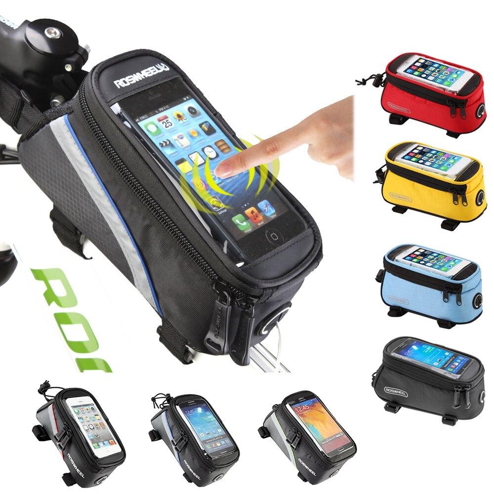 ROSWHEEL bicicleta de ciclismo bicicleta IPHONE bolsas de PANNIER de la bolsa del teléfono móvil caso bolsa
