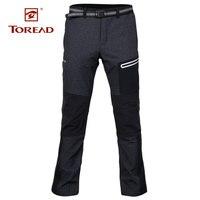 Toread мужские осенние новые теплые уличные спортивные брюки Трекинговые внедорожные походные ветрозащитные походные мягкие оболочки зимние