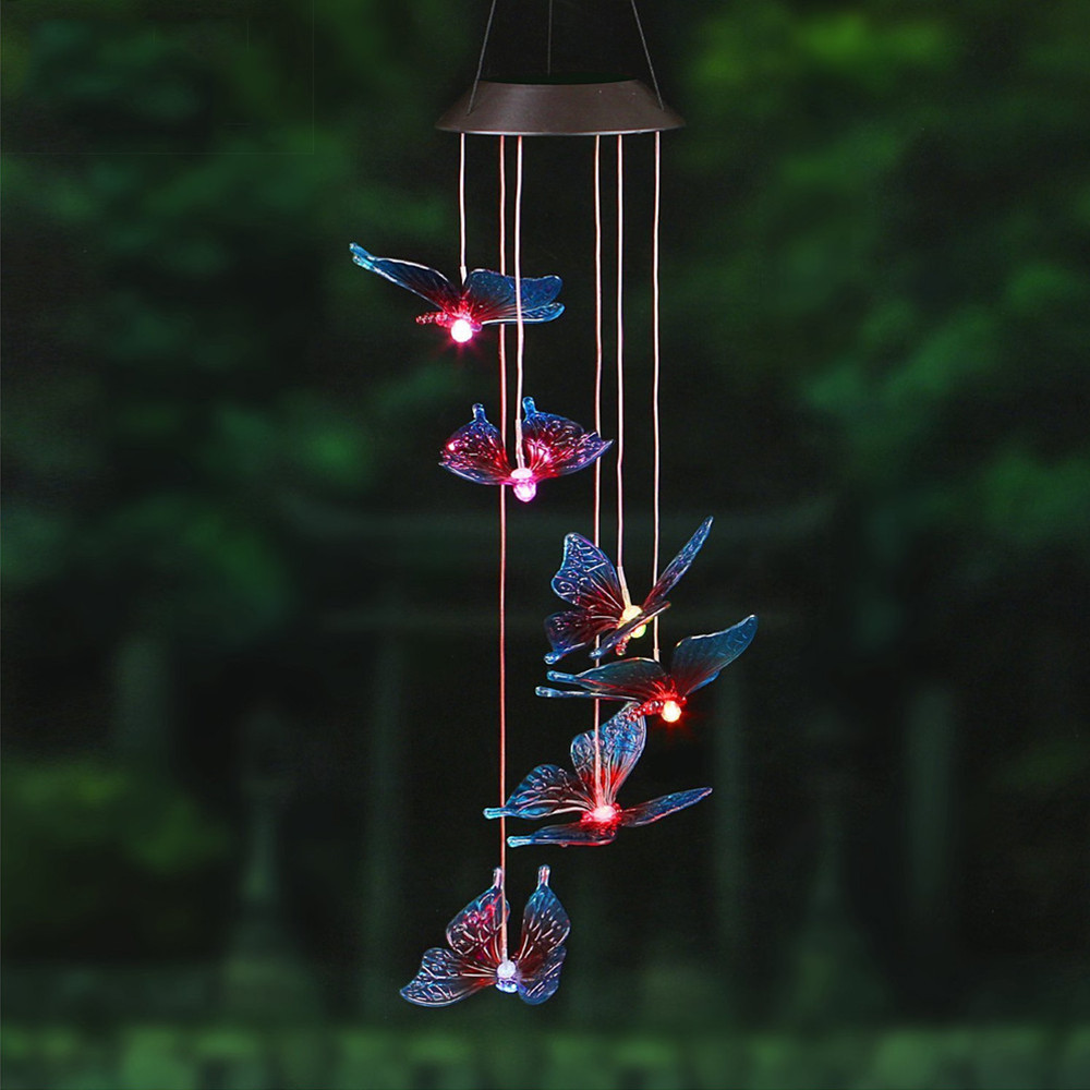 Outdoor Windlights Solar Powered Led Changing Light Color