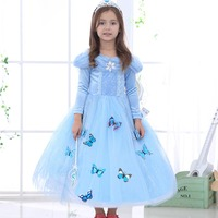 Elsa Dress Disfraz Elsa Dress Costumes Kids Halloween Cosplay Party Cinderella Dress Girls Princess Dresses Long Sleeve Fantasia