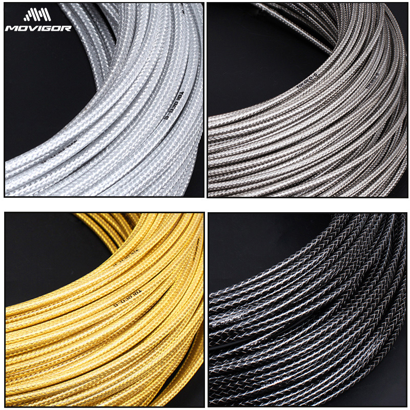 3M/Set Weaving Bike Brake Cable Housing Universal Bicycle Shift  Derailleur Line Tube 4mm/5mm MTB Road Bike Cable Line Pipe Sets