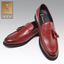 Italiaanse bruin lederen Loafer heren dress schoenen zapatos de los hombres(China)