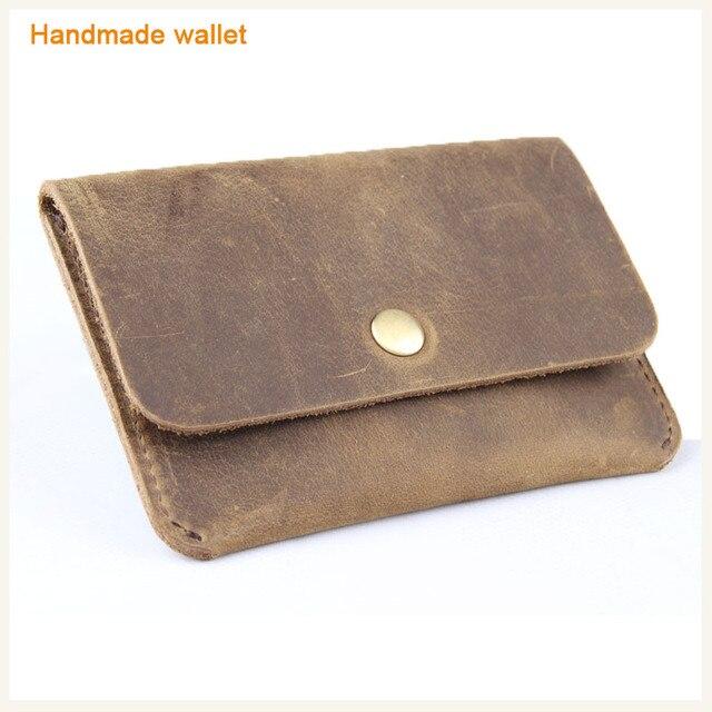 c02013113d354 italien retro pferdeleder herren brieftasche leder geldbörse handgefertigt  coole männer mini geldbörse kreditkarte weichen leder münze