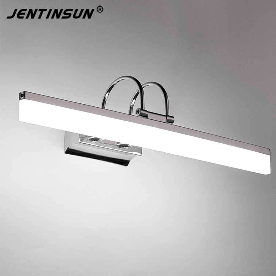 lampada da parete moderna lampada 58 cm 9 w bagno specchio luce led mini stile bianco