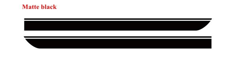 Для BMW MINI CooperS F55 F56 F54 R55 наклейки для боковой юбки автомобиля Аксессуары для кузова подходят на 3-5 дверей Спортивные полосы наклейки - Название цвета: Matte Black
