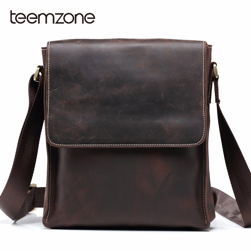 Teemzone Men Tote Bags Famous Brand New Fashion Man Leather Messenger Bag Male Cross Body Shoulder Business Bags For Men T8864 deelfel new brand shoulder bags for men messenger bags male cross body bag casual men commercial briefcase bag designer handbags
