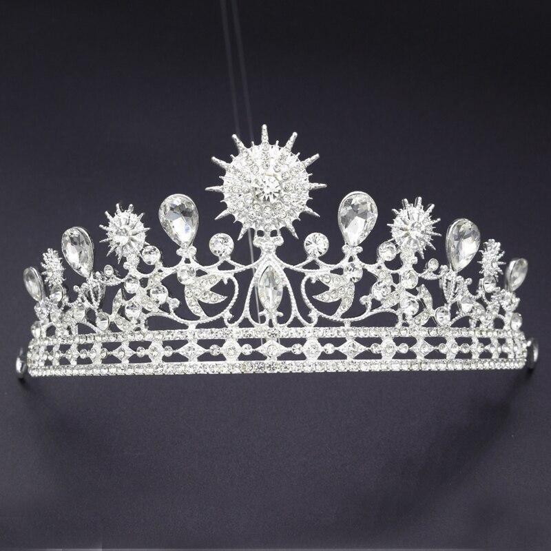 argent vintage europenne baroque reine cristal de bal diadme de cheveux de mariage accessoires de marie - Diademe Mariage Pas Cher