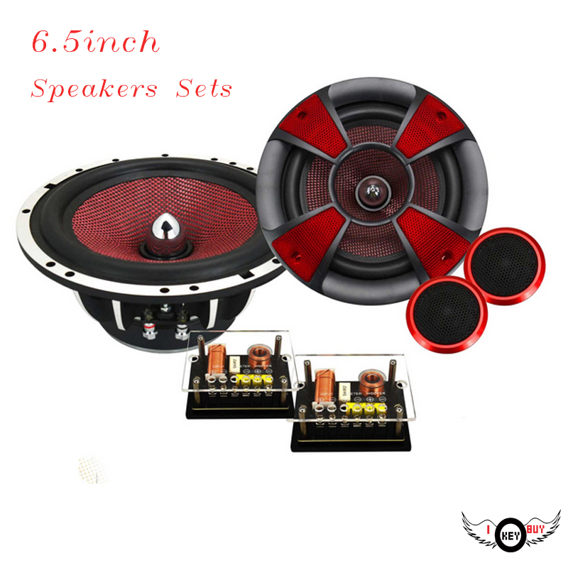 Brand New 300W 2-Way 6.5Inch Component Car Speaker Set Medium Tweeter Speakers Suit Kit Auto Audio Modified DIY High-End Sound hifine hi 520d 28mm tweeter component speaker for car audio system black pair