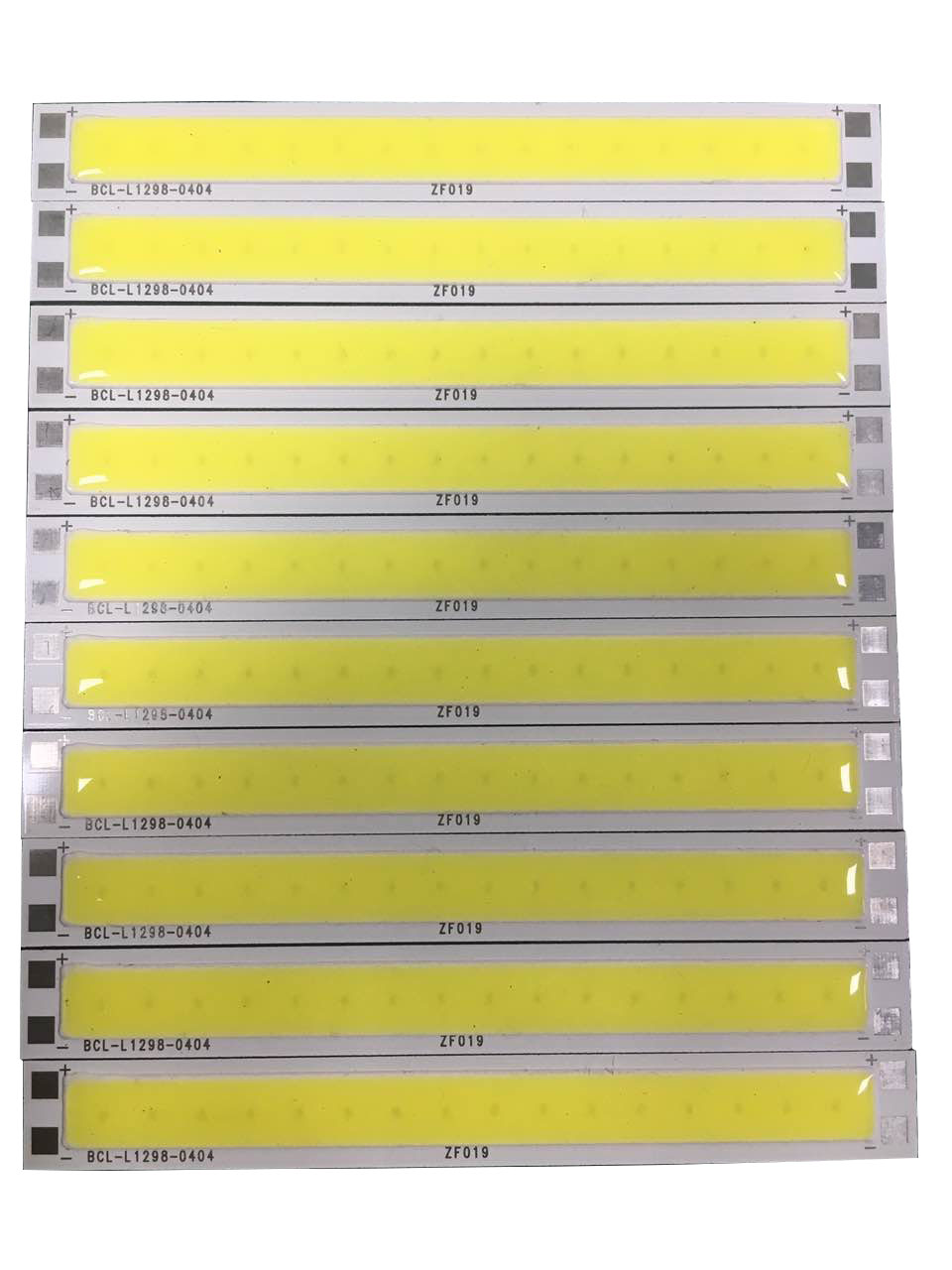 HOT 10pcs/lot DC12V 5w 500lm 12*98mm strip cob led bars 100lm/w for the DIY lighting lamp led module
