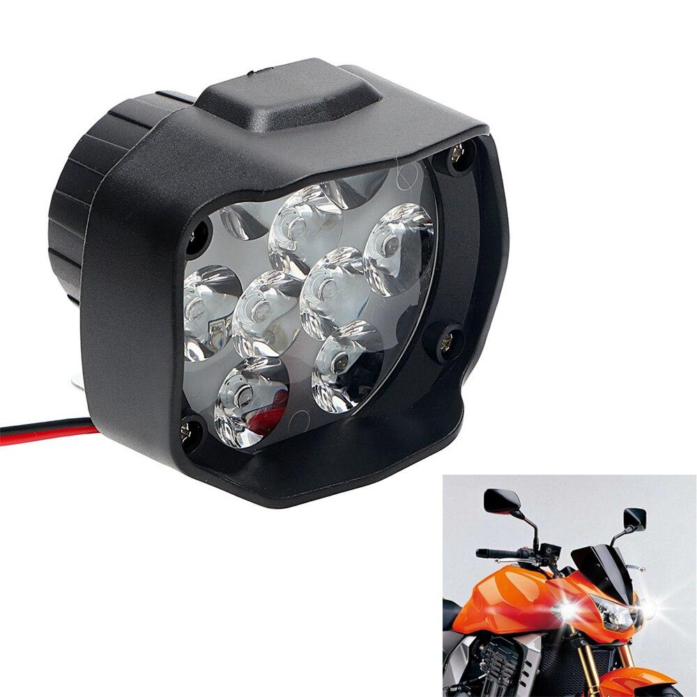 1 Pz 9 LEDs 15 W 1500Lm Faro Del Motociclo Bianco Scooter Nebbia Spotlight Moto Accessori Moto Faro Luminoso Eccellente