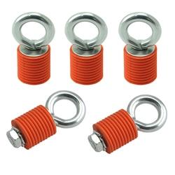 KEMiMOTO für Polaris RZR 570 900 ZR S 900 800 1000 XP Sportler 110 400 450 Binden Anker Krawatte downs Anker Orange