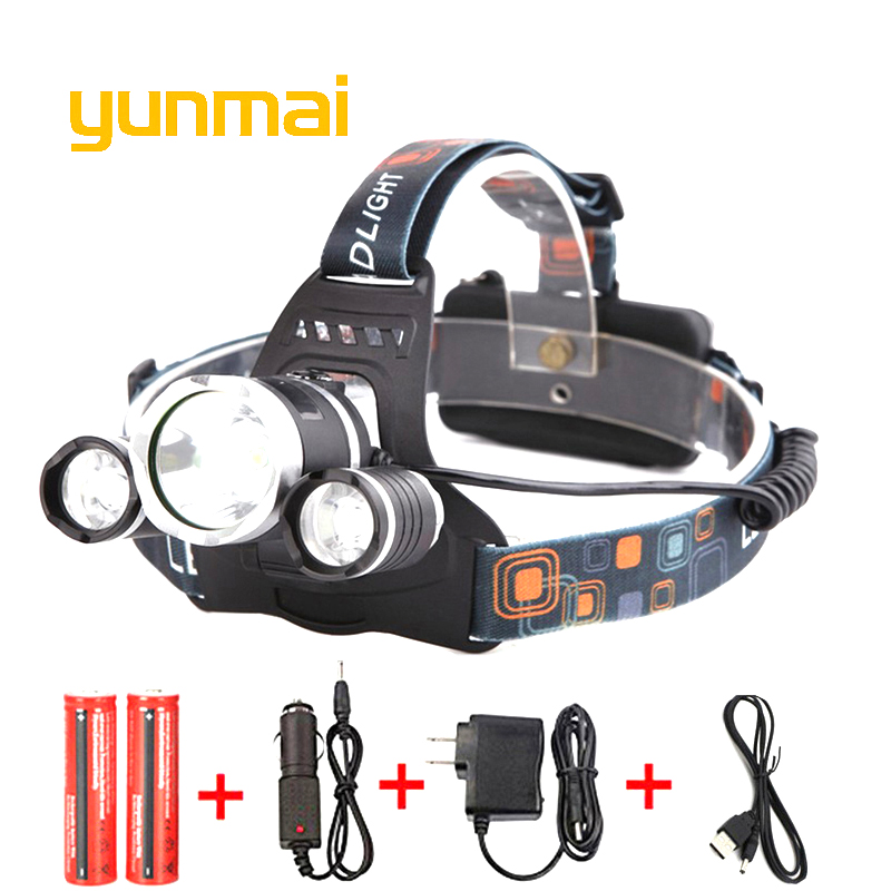 USB Sensor LED Head Light Torch Headlamp Headlight Lamp Rechargeable Lumens UK