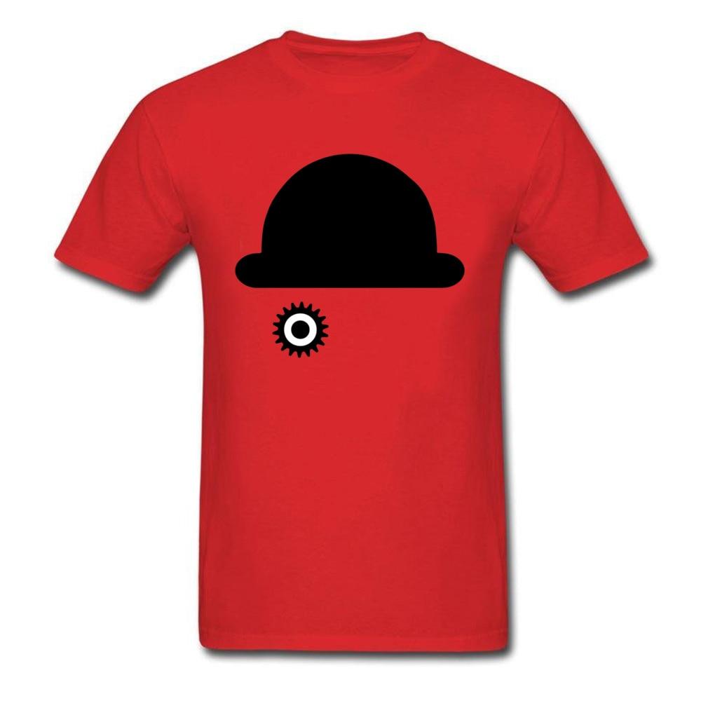 O-Neck Clockwork Orange 23515 100% Cotton Men T-Shirt Casual Short Sleeve Tops Tees 2018 New Camisa Tops & Tees Clockwork Orange 23515 red