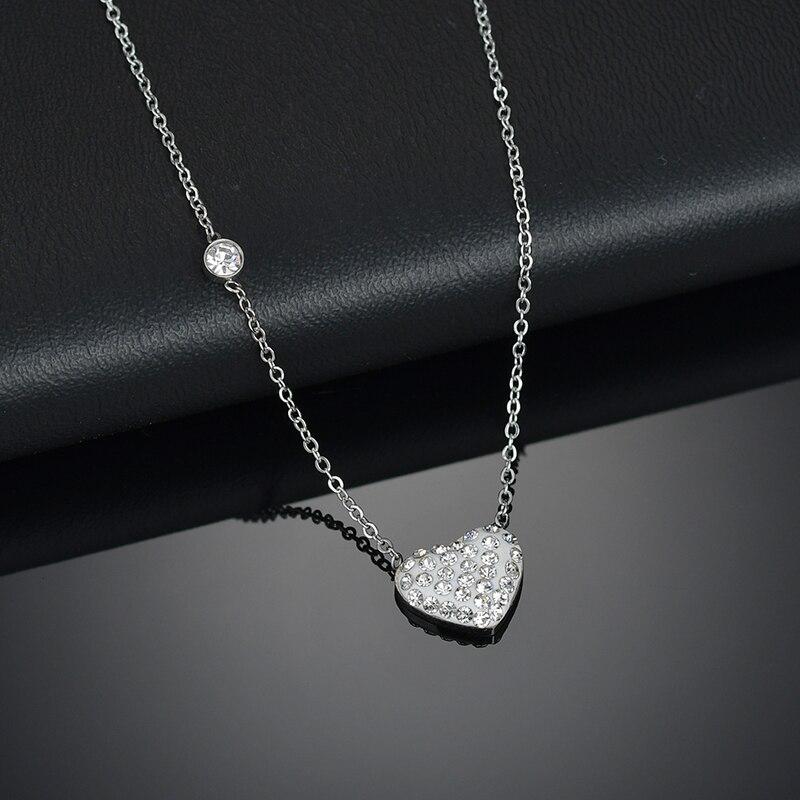 Nextvance CZ Stone Heart Pendant Necklaces Fashion Jewelry Crystal Rhinestones LOVE Collares Geometric Charm Necklace Bijoux