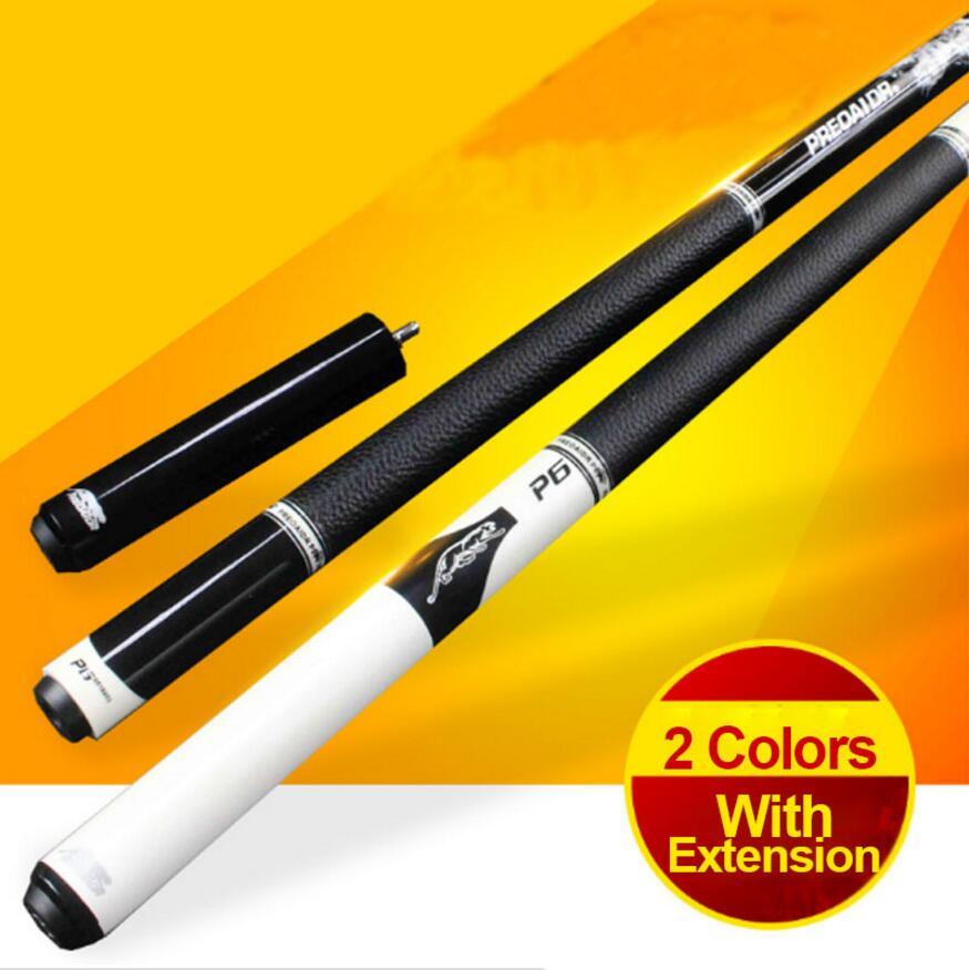 PREOAIDR 3142 P6 queue de billard érable manche Kit queue de billard 10mm pointe avec Extension blanc/noir couleur professionnelle chine 2019