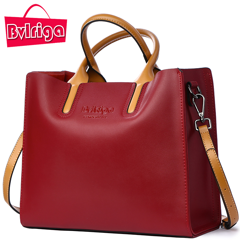 BVLRIGA Luxury Handbags Women Bags Designer Famous Brands Genuine Leather Bag Female Crossbody Messenger Shoulder Bag Tote Bag qiaobao 100% genuine leather women s messenger bags first layer of cowhide crossbody bags female designer shoulder tote bag
