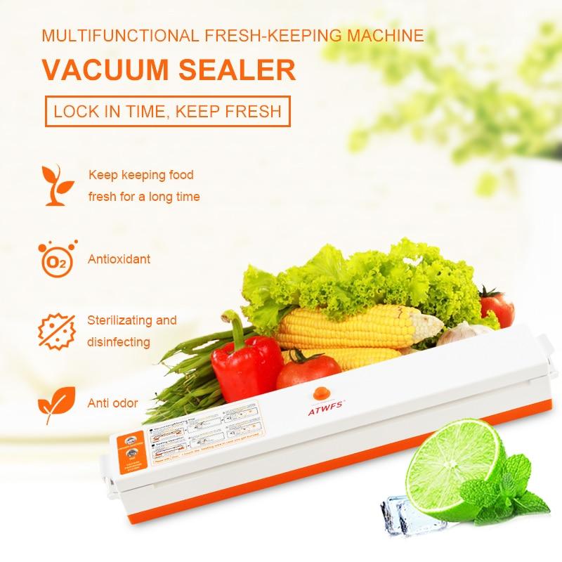 Image 5 - ATWFS Vacuum Sealer Packing Sealing Machine Best Portable Food Vaccum Sealer Kitchen Packer with 15pcs Vacuum Bag for Food Savermachine vacuumfood vacuumfood vacuum sealer -