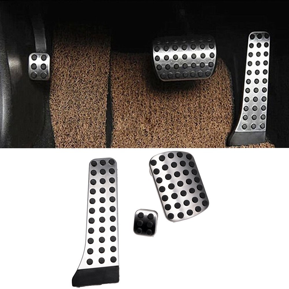 XYIVYG Car Foot Rest Fuel Brake Pedals for Mercedes Benz C E S GLK SLK CLS Sl Class W204 W212 W222 X204 R172 W218 R231