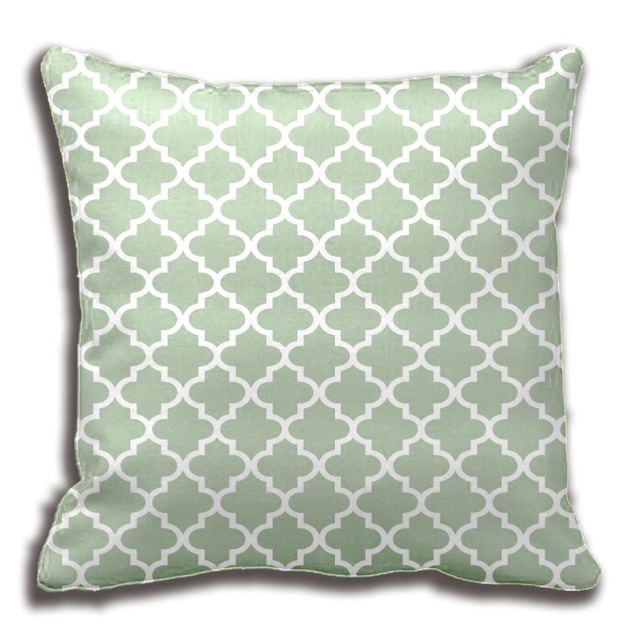 Moroccan Quatrefoil Pattern Pillow Sage Green Home Decorative Cushion Cover Case Customize Gift By Lvsure
