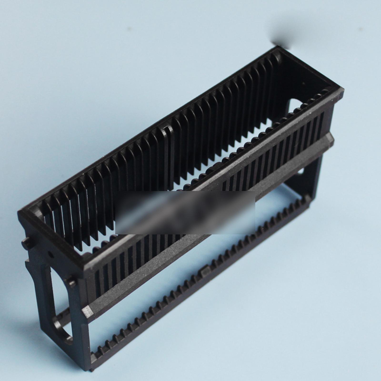 Black PP Staining Rack For 30 Slots Glass Slide Lab Apothecary Chemist