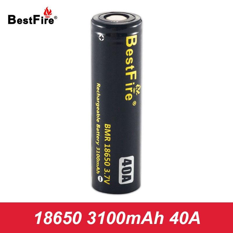 Battery 18650 40A Rechargeable Battery 3.7V 3100mAh Vape 18650 Battery for SMOK Alien AL85 Mag X Priv G Priv 2 Kit Box Mod A124