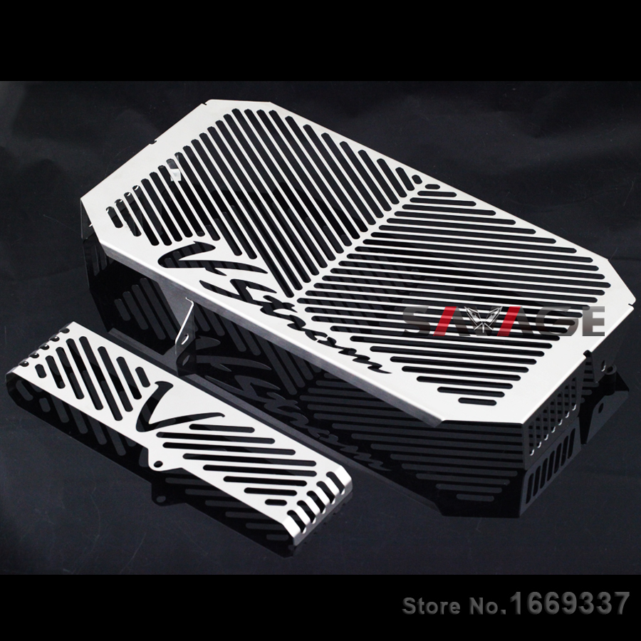 For SUZUKI DL650 V-Strom 2004-2010 Motorcycle Radiator Grille Guard Cover Oil Cooler Protector Fuel Tank Protection Net for honda hornet 600 hornet600 cb600 2003 2006 2004 2005 motorcycle accessories radiator grille guard cover fuel tank protection