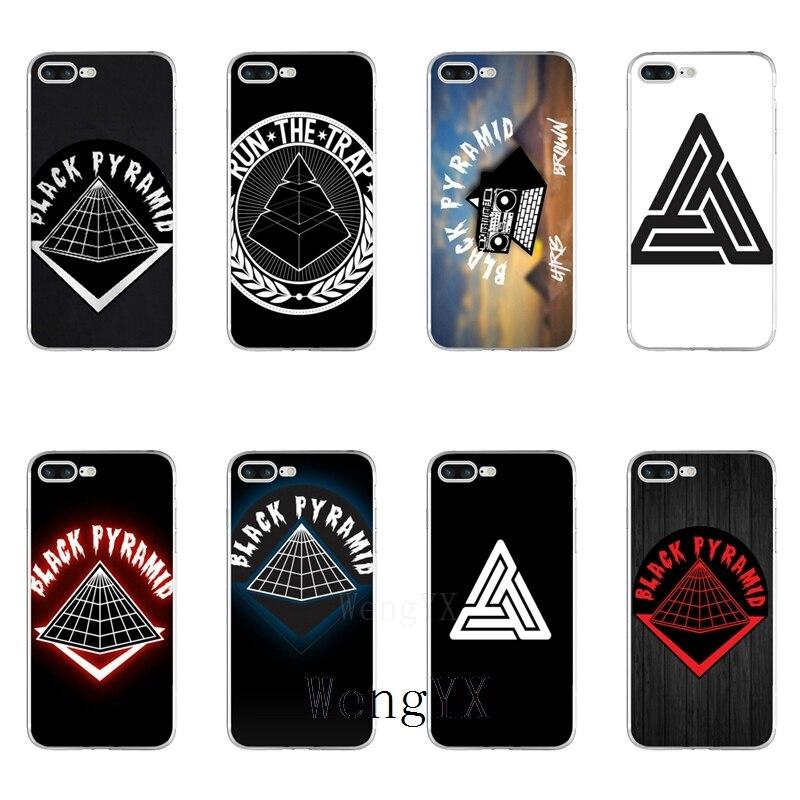 online store 33859 63d1a fashion black pyramid Slim silicone Soft phone case For Samsung Galaxy J1  J2 J3 J5 J7 A3 A5 A7 2015 2016 2017
