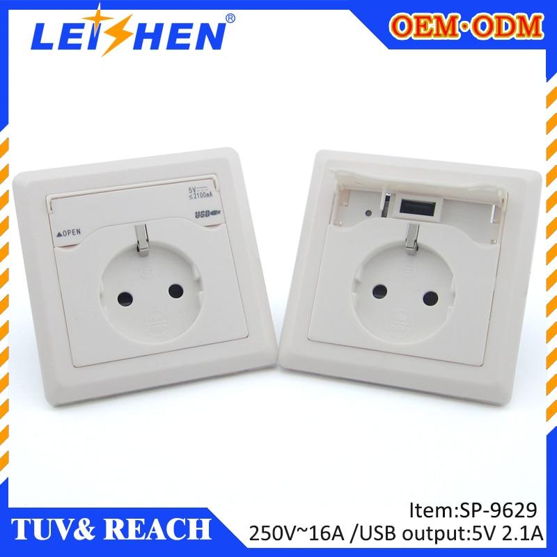 USB Socket sp 9629 16 Amp AC european TUV Standard Wall Duplex ...