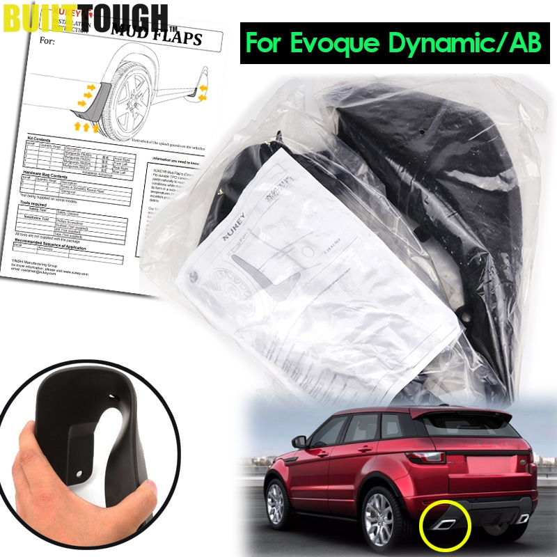 ACCESSORIES FIT FOR RANGE ROVER EVOQUE DYNAMIC 2012 2018 MUDFLAPS MUD FLAP SPLASH GUARD MUDGUARDS FRONT