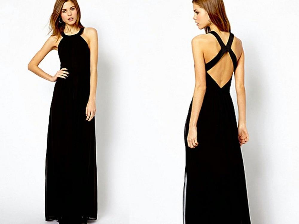 simple long black evening dress | Gommap Blog