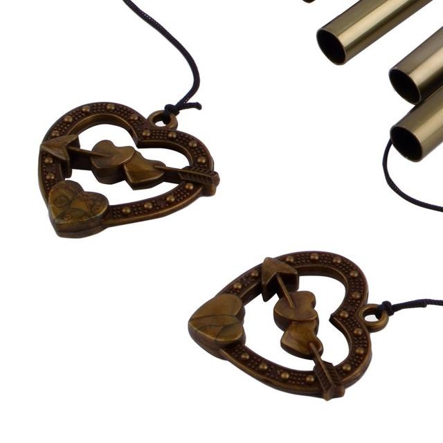 Amazing Antique Bronze 8 Tubes Bells Wind Chimes Yard Garden Outdoor Decor