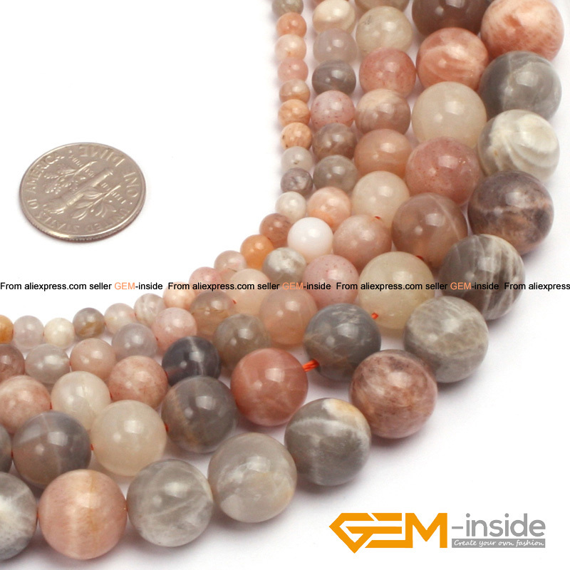 Round Smooth Natural Sun Stone Beads Selectable 4mm To 12mm, DIY Loose Beads For Jewelry Making Beads Strand 15 Wholesale ! цена