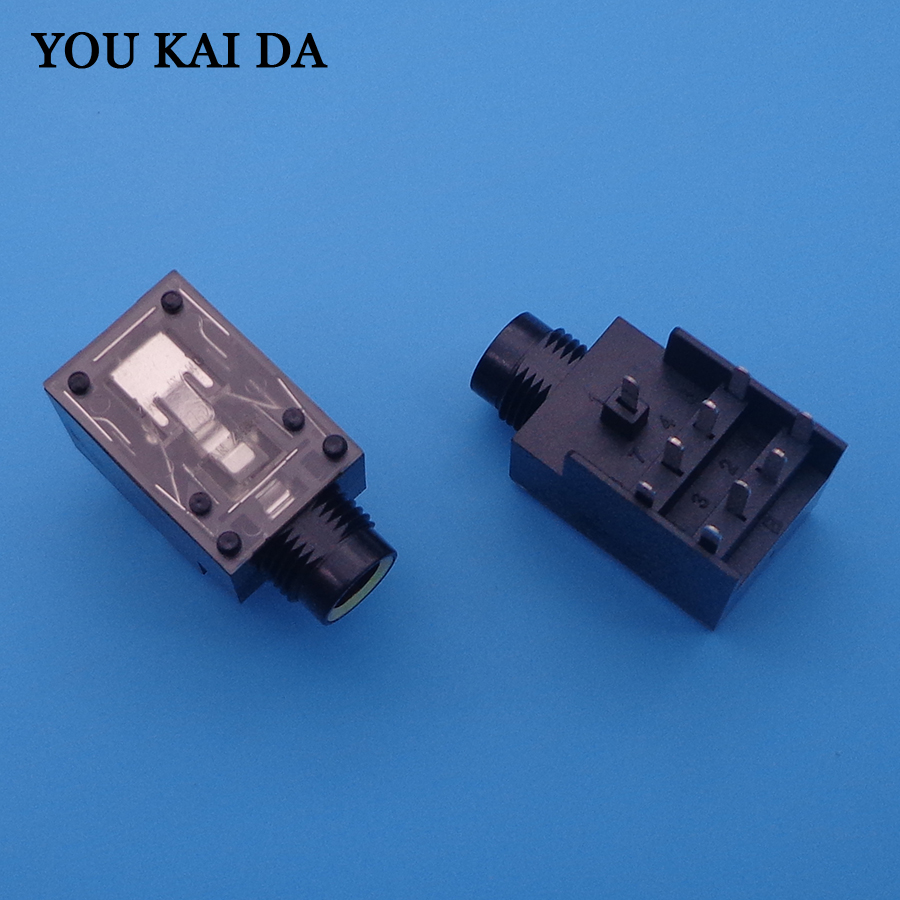 small resolution of detail feedback questions about 9 pin audio jack connector gold color for ktv power amplifier tv etc mic port 6 35mm h18 5 mm on aliexpress com alibaba