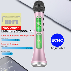 Image 2 - Lewinner L 698 Professionele 15W Draagbare Usb Draadloze Bluetooth Karaoke Microfoon Luidspreker Met Dynamische Microfoon