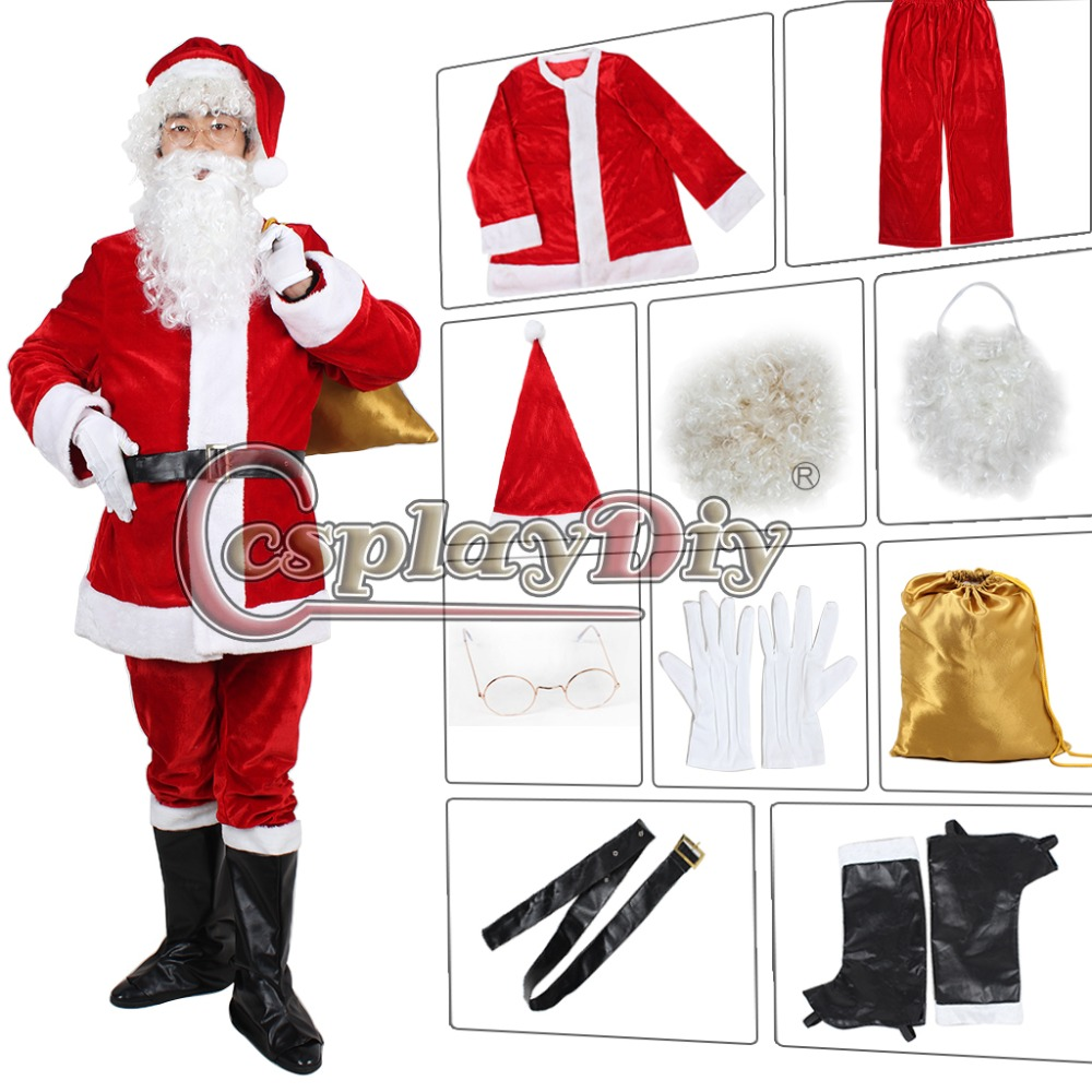 Us 83 66 6 Off Cosplaydiy Christmas Costume Santa Claus Adult For Men Suit Cosplay Outfit Custom Made In Holidays Costumes From Novelty Special